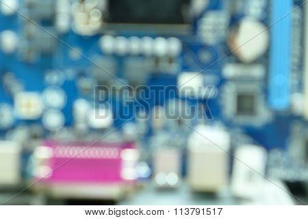 Blurred Motherboard Background