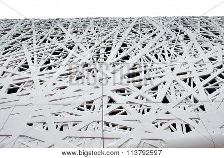 White abstract texture of the facade