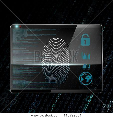 Fingerprint. Stock Illustration.