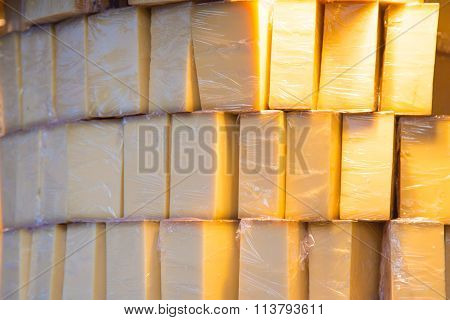 Packed Pile Of Cheese
