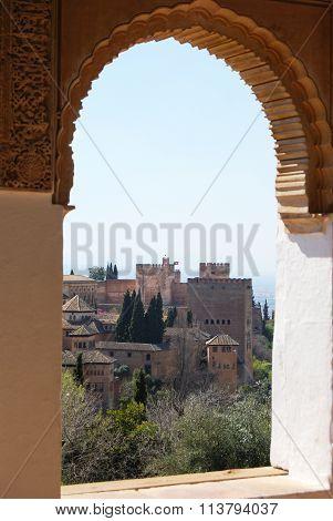 Alhambra Palace Castle.