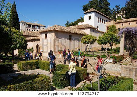 Alhambra Palace Castle Gardens, Granada.