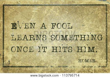 Fool Learns Homer
