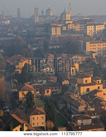 view of the upper city, Bergamo
