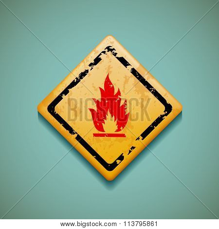 Warning Sign. Stock Illustration.