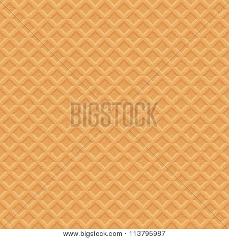 Waffle. Stock Illustration.