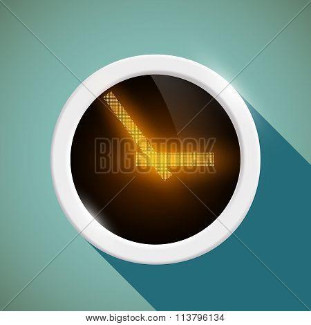 Round Clock. Stock Illustration.