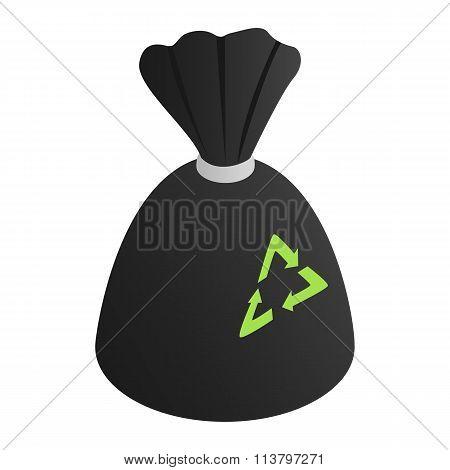 Black rubbish bag