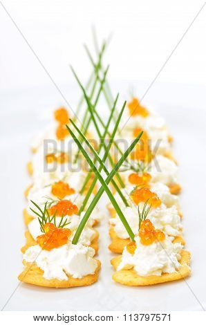 Tidbits with caviar