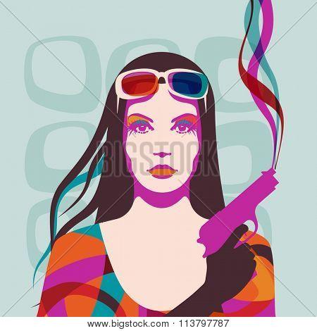 Portrait of a woman, eps10 vector