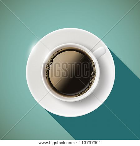 Icon Coffee. Stock Illustration.