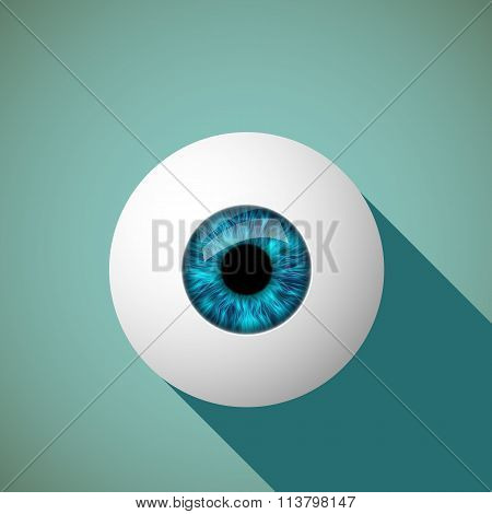Icon Eye. Stock Illustration.
