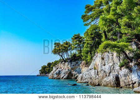 Shore of a beautiful Greek island, Skopelos