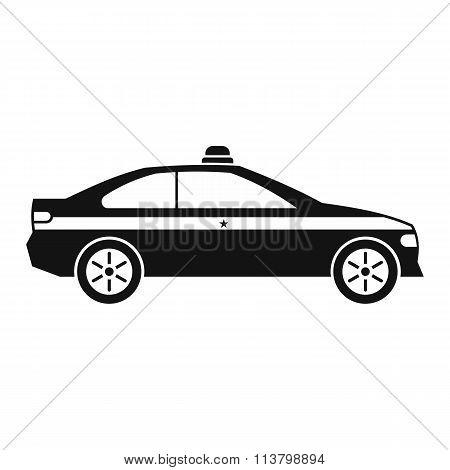 Police car black icon