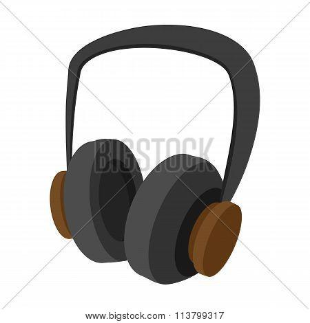 Big headphones cartoon icon