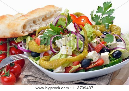 Greek country style salad