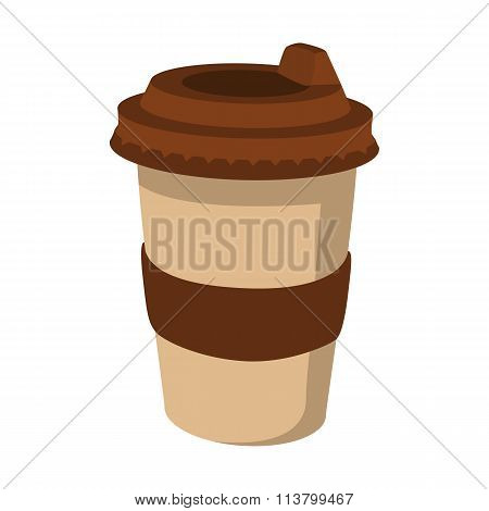 Takeaway coffee cup cartoon icon