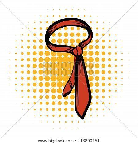 Brown necktie comics icon