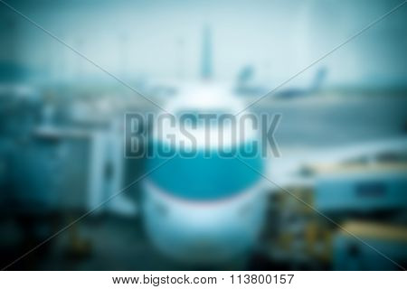 Hong Kong airport theme blur background