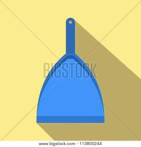 Blue dustpan flat