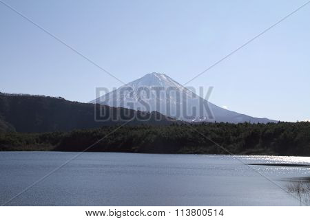 Mt. Fuji view from West lake in Yamanashi Japan