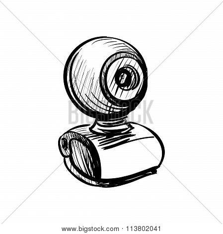 Vector doodle web cam