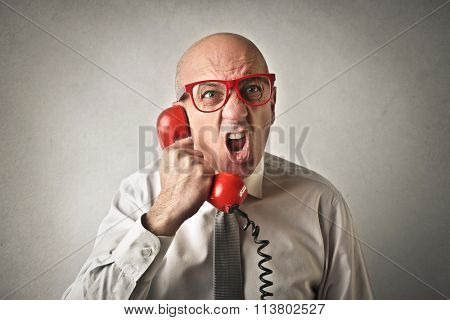 Shouting on the phone