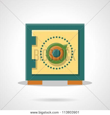 Money storage flat color vector icon
