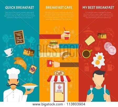 Breakfast Vertical Banners Set