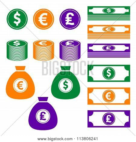 Currency, finance, money icon