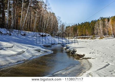 Spring Thaw Of The River
