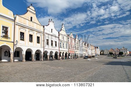 View From Telc Or Teltsch Town Square