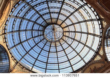 Dome of Galleria Vittorio Emanuele in Milan