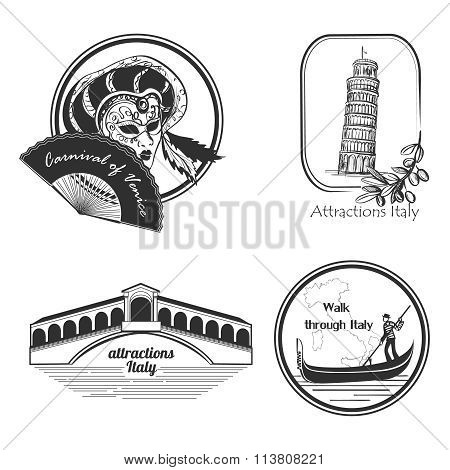 Italy country set label.