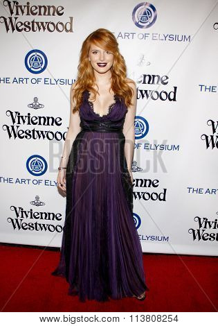 Bella Thorne at the Art Of Elysium's 9th Annual Heaven Gala held at the 3LABS in Culver City, USA on January 9, 2016.