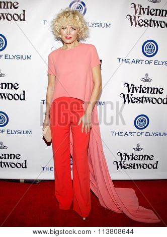 Malin Akerman at the Art Of Elysium's 9th Annual Heaven Gala held at the 3LABS in Culver City, USA on January 9, 2016.
