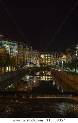 Embankment Of Tepla River, Karlovy Vary, Czech Republic