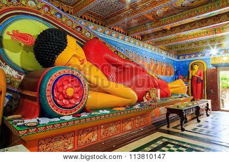 Lying Buddha In A Temple