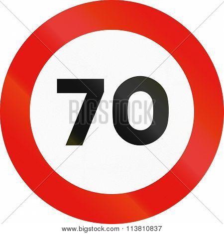 Road Sign Used In Spain - Maximum Speed