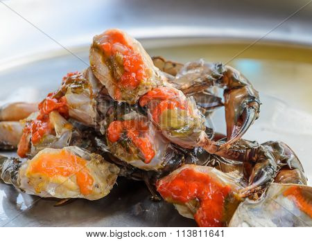 Raw Crab Marinated In Fish Sauce, Thai Cuisine