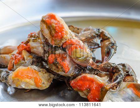 Raw Crab Marinated In Fish Sauce, Thai Cuisine