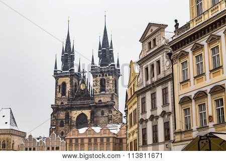 Church Of Our Lady Before Tyn And Other Buildings In Prague