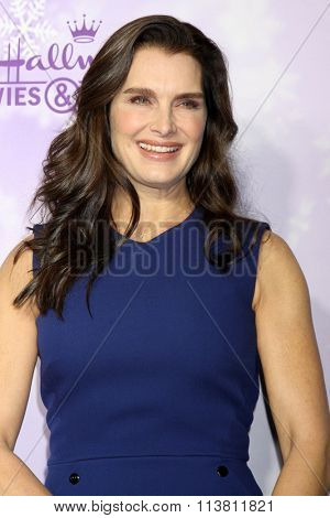 LOS ANGELES - JAN 8:  Brooke Shields at the Hallmark Winter 2016 TCA Party at the Tournament House on January 8, 2016 in Pasadena, CA
