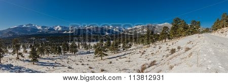 Winter Panorama In Rocky Mountains
