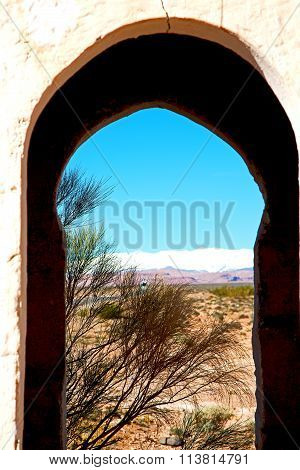 Gate   In Todra Gorge Morocco Africa And