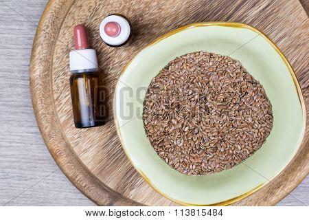 Flaxseed With Jar