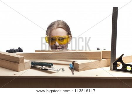 Woman And Work Desk.
