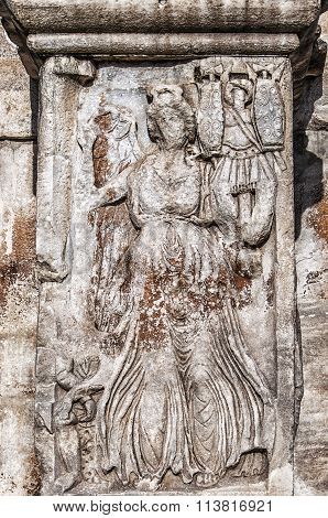 Roman Arch Of Constantine Relief