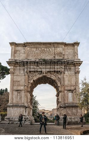 Rome Arch Of Titus Editorial