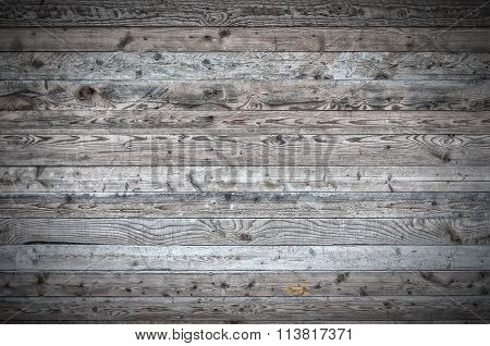 Wooden Boards Background With Vignette